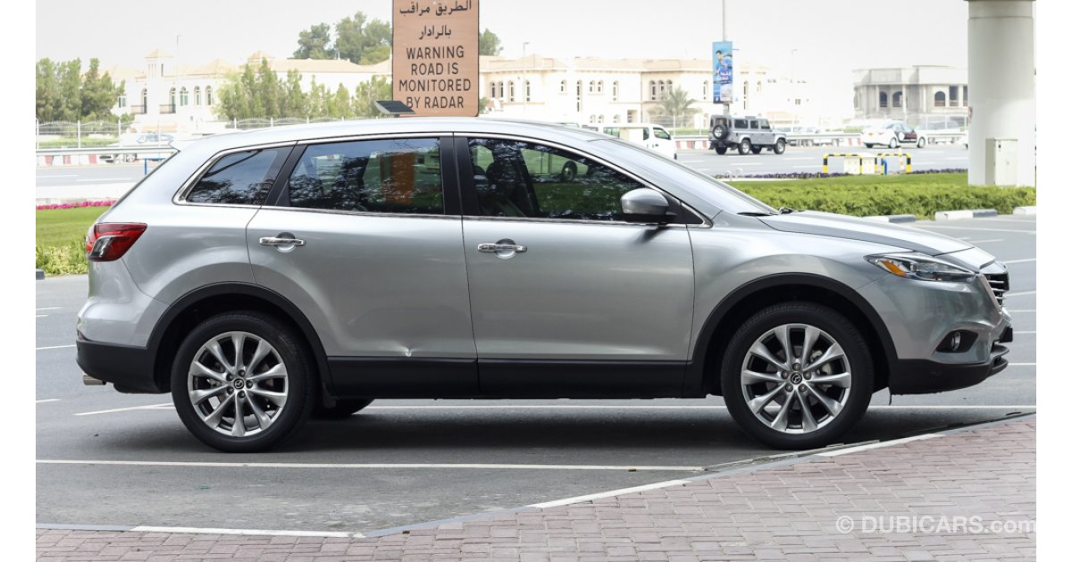 mazda cx 9 for sale aed 97 000 grey silver 2015. Black Bedroom Furniture Sets. Home Design Ideas