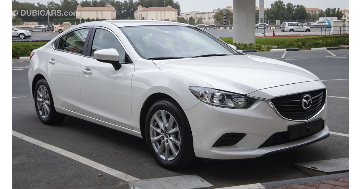 mazda 6 for sale aed 58 000 white 2015. Black Bedroom Furniture Sets. Home Design Ideas