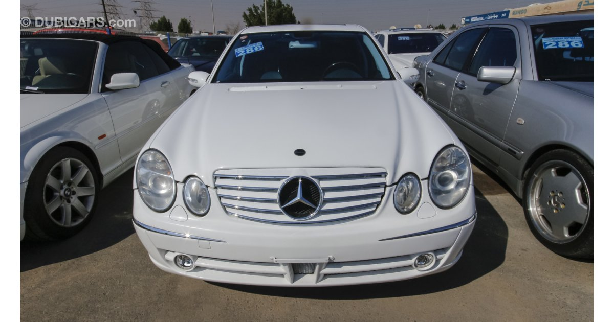 Mercedes benz e 500 for sale aed 28 000 white 2003 for Mercedes benz e500 for sale