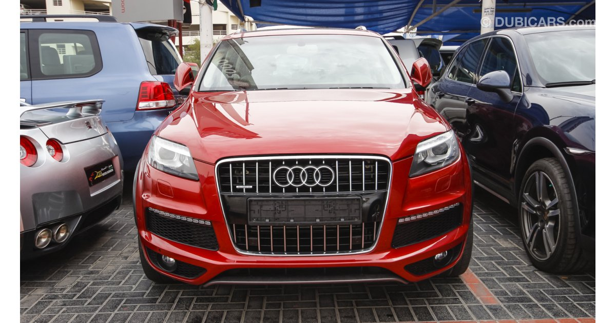 audi q7 4 2 quattro s line for sale aed 82 500 red 2010. Black Bedroom Furniture Sets. Home Design Ideas