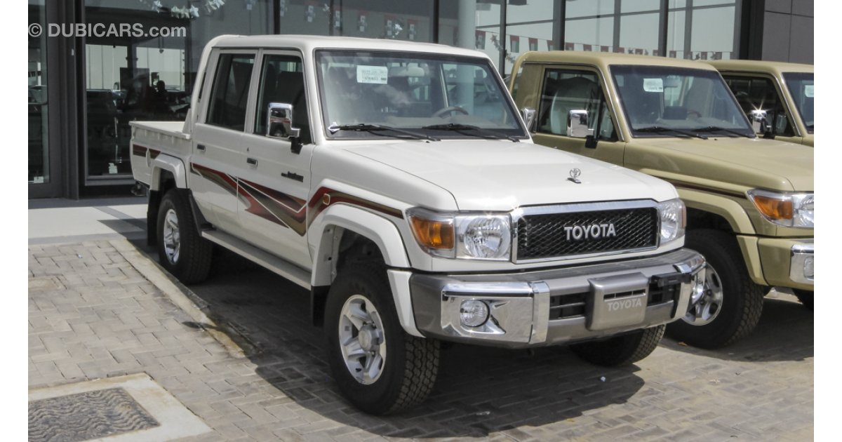 toyota land cruiser pickup for sale aed 143 000 white 2016. Black Bedroom Furniture Sets. Home Design Ideas