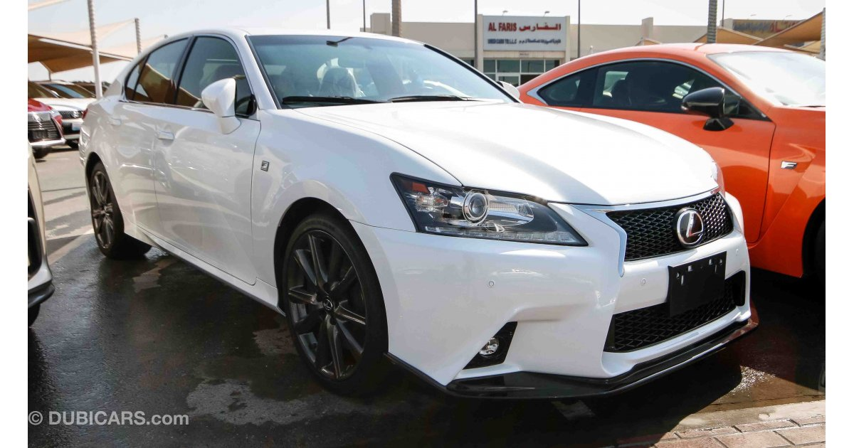 lexus gs 350 f sport for sale aed 95 000 white 2014. Black Bedroom Furniture Sets. Home Design Ideas