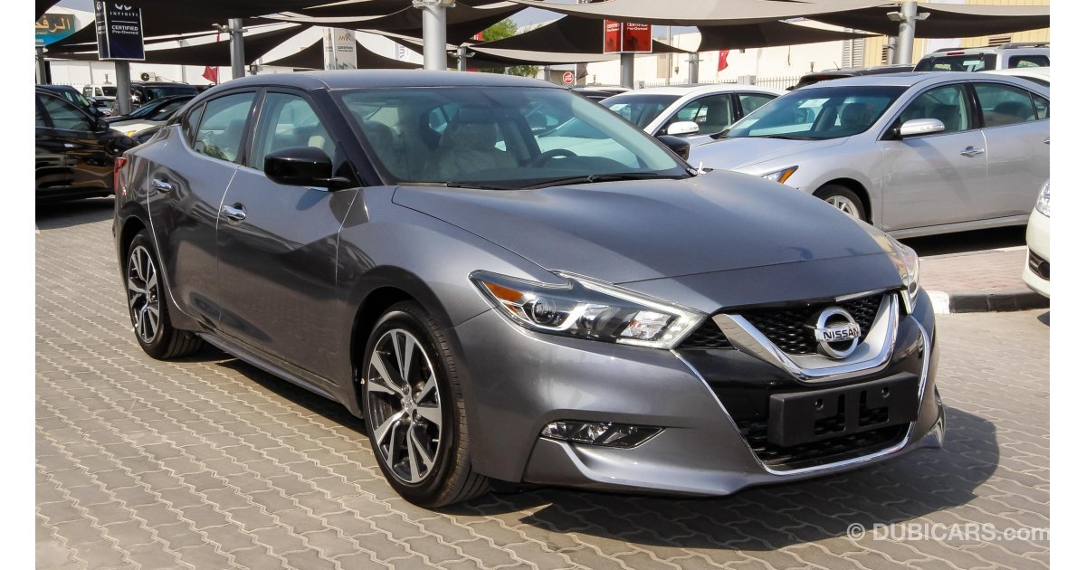 nissan maxima for sale aed 98 900 grey silver 2016. Black Bedroom Furniture Sets. Home Design Ideas