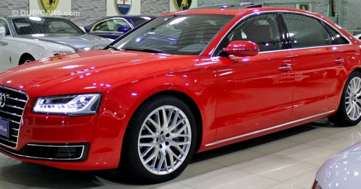 Pre Owned Audi >> Audi A8 L 5.0 TFSI QUATTRO for sale: AED 258,000. Red, 2016