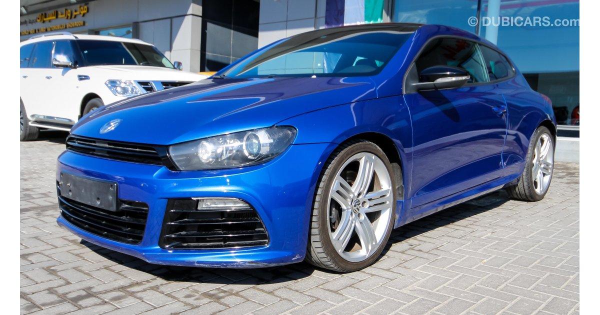 volkswagen scirocco r for sale aed 66000 blue 2014