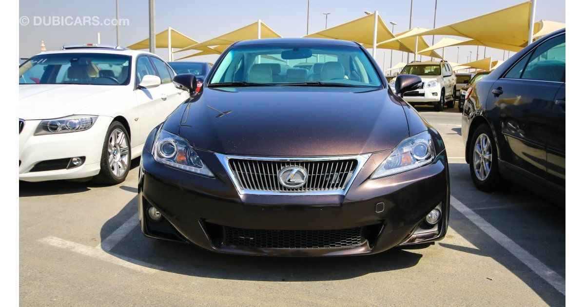 lexus is 250 for sale aed 58000 brown 2012