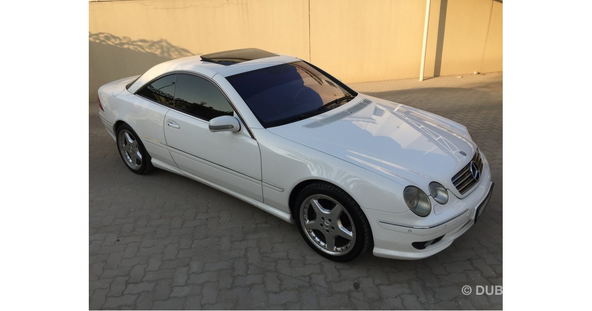 Mercedes benz cl 55 amg for sale aed 38 000 white 2001 for 2001 mercedes benz cl500 for sale