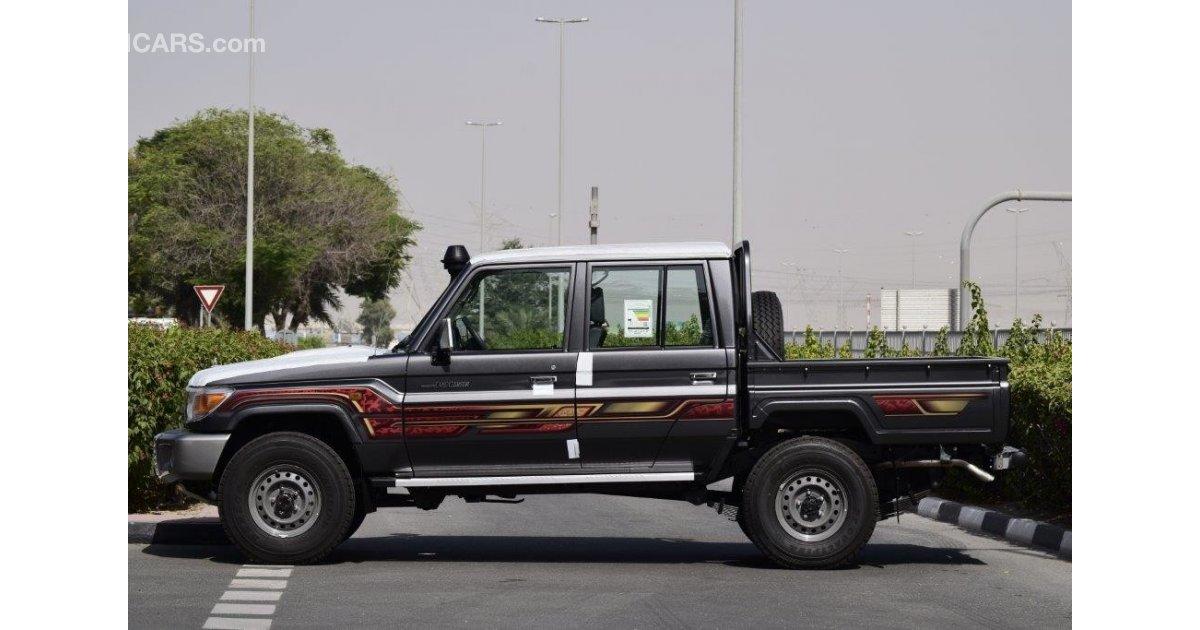 toyota land cruiser pickup double cab v8 4 5l turbo diesel 6 seat 4wd manual transmission for. Black Bedroom Furniture Sets. Home Design Ideas