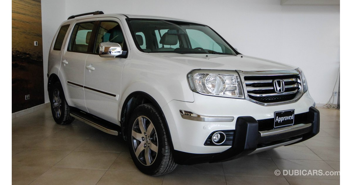 honda pilot for sale aed 102 900 white 2013. Black Bedroom Furniture Sets. Home Design Ideas