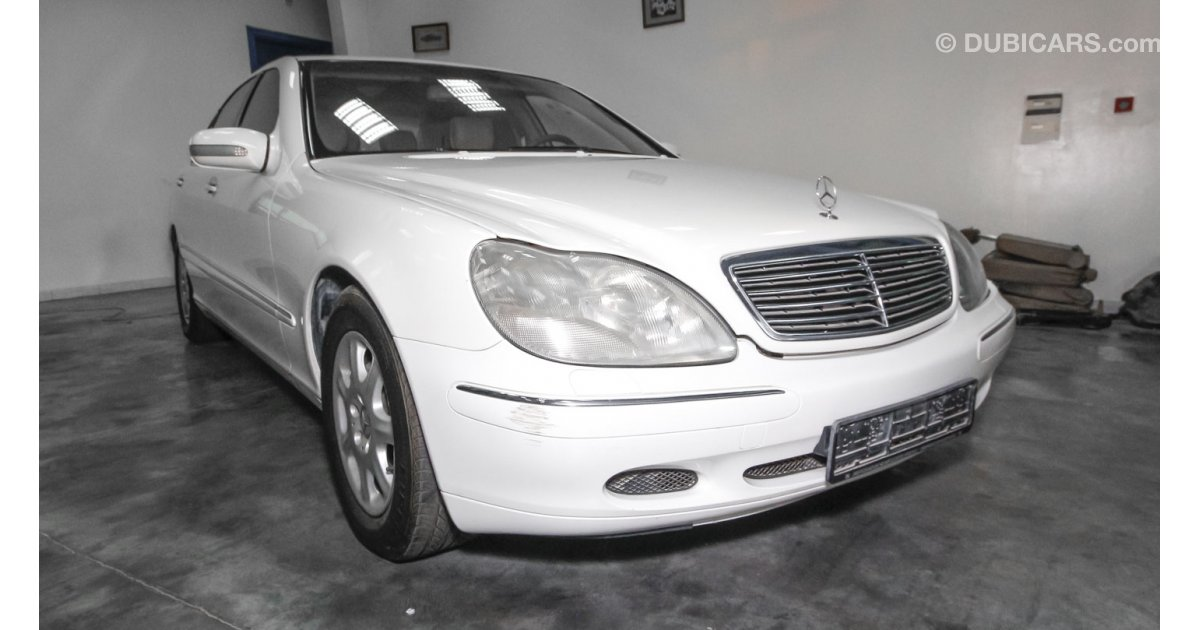 Mercedes benz s 500 for sale aed 22 000 white 2002 for Mercedes benz s 500 for sale used