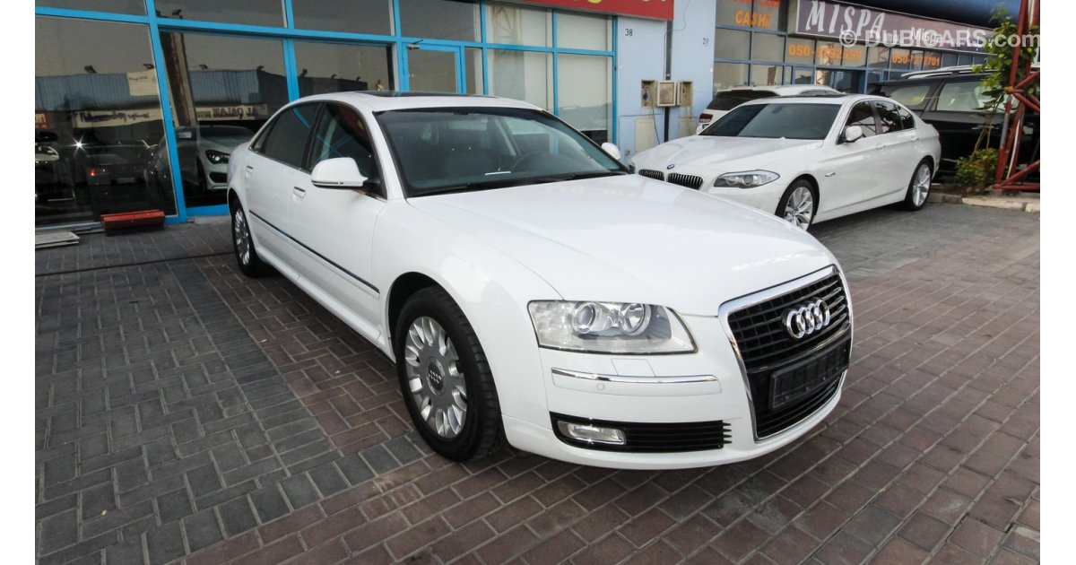 audi a8 l for sale aed 75 000 white 2010. Black Bedroom Furniture Sets. Home Design Ideas
