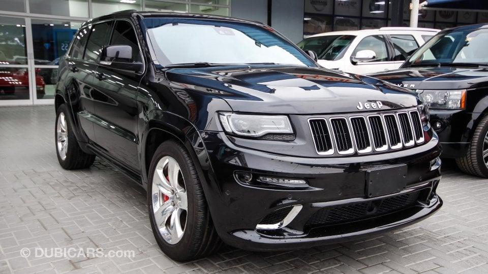 jeep grand cherokee srt for sale aed 145 000 black 2014. Black Bedroom Furniture Sets. Home Design Ideas