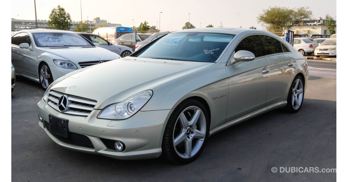Mercedes benz cls 55 amg for sale aed 62 000 grey silver for Mercedes benz cls for sale