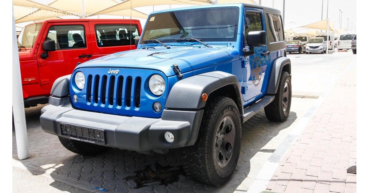 jeep wrangler for sale aed 72 000 blue 2015. Black Bedroom Furniture Sets. Home Design Ideas