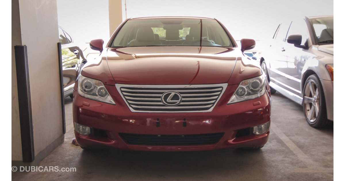 lexus ls 460 l for sale aed 119 000 red 2010. Black Bedroom Furniture Sets. Home Design Ideas