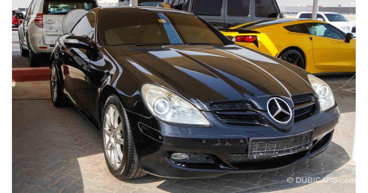 mercedes benz slk 280 for sale aed 28 000 black 2007. Black Bedroom Furniture Sets. Home Design Ideas