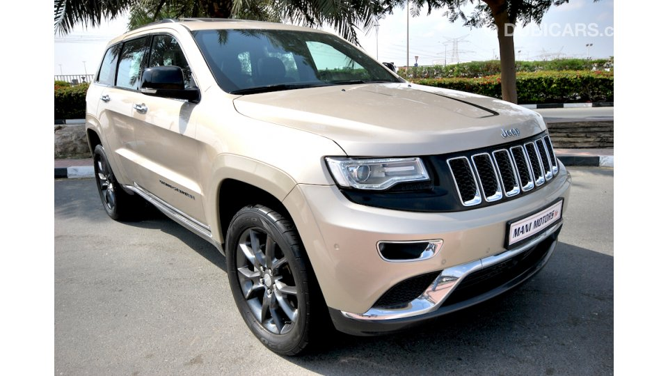 jeep grand cherokee summit 5 7l hemi warranty fsh for sale aed 149 000 gold 2014. Black Bedroom Furniture Sets. Home Design Ideas