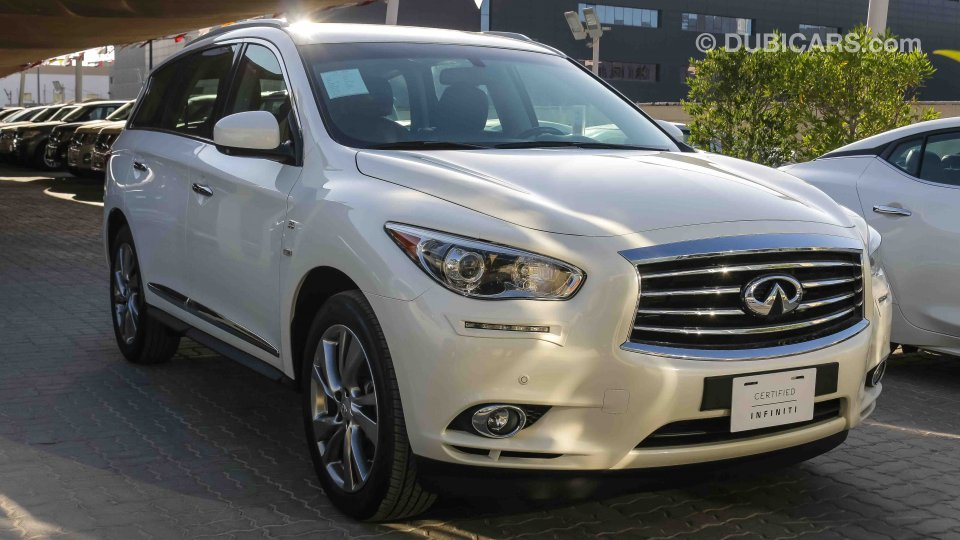 infiniti qx60 for sale aed 127 900 white 2015. Black Bedroom Furniture Sets. Home Design Ideas