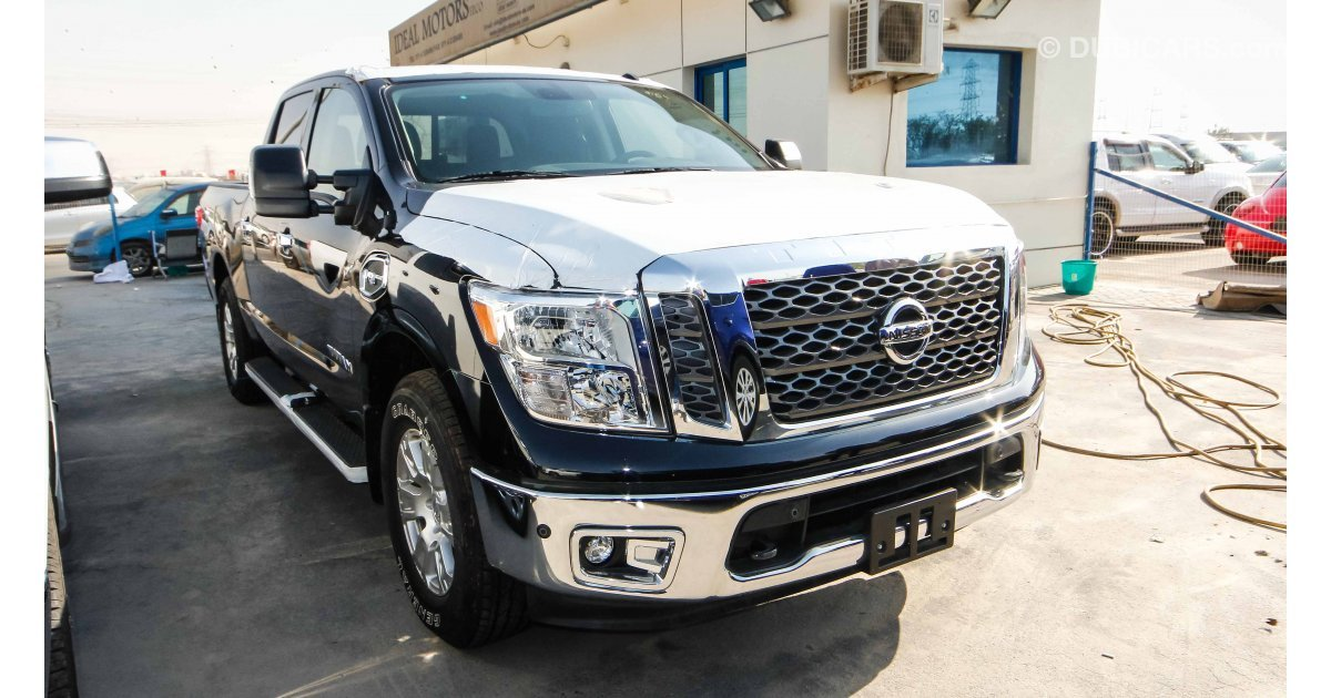 nissan titan for sale aed 165 000 black 2017. Black Bedroom Furniture Sets. Home Design Ideas