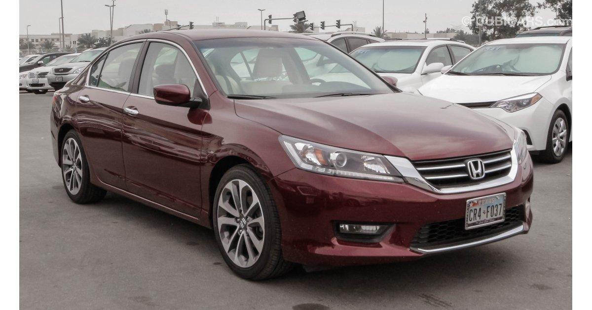 Honda Accord For Sale Aed 55 000 Burgundy 2015