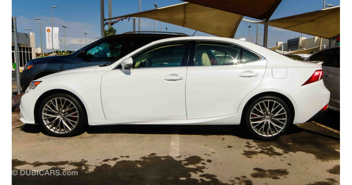 lexus is 250 for sale aed 68000 white 2014