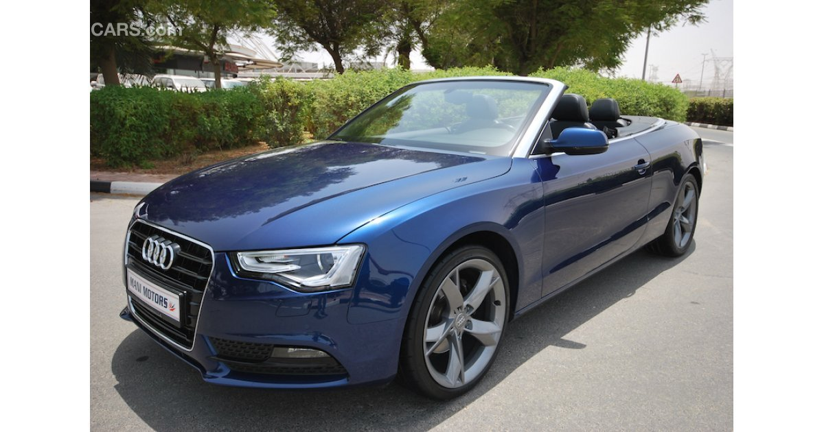 audi a5 cabriolet 1 8 t for sale aed 129 000 blue 2014. Black Bedroom Furniture Sets. Home Design Ideas