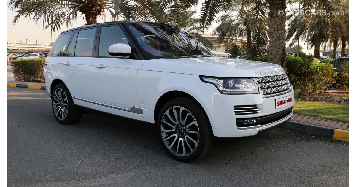 land rover range rover autobiography for sale aed 569 000 white 2017. Black Bedroom Furniture Sets. Home Design Ideas