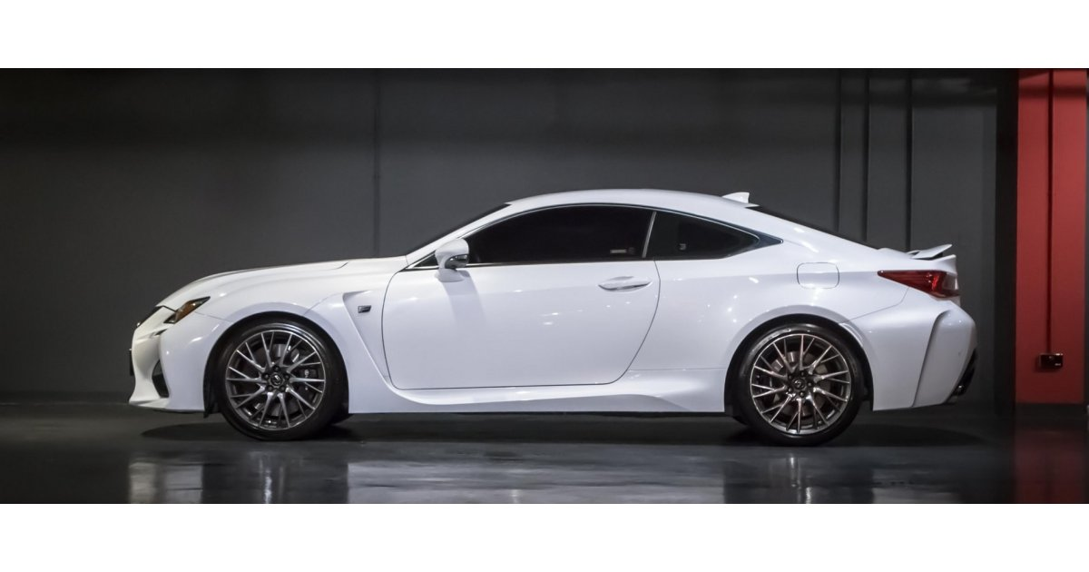 lexus rc 350 f sport under warranty for sale aed 169 000 white 2015. Black Bedroom Furniture Sets. Home Design Ideas