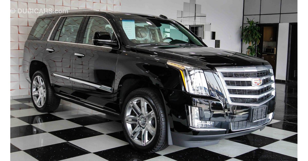 cadillac escalade premium luxury for sale aed 299 000 black 2017. Black Bedroom Furniture Sets. Home Design Ideas
