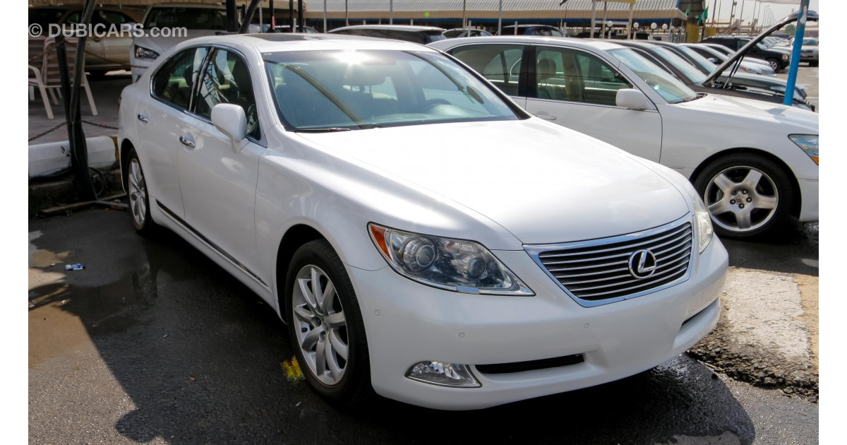 lexus ls 460 for sale aed 82 000 white 2008. Black Bedroom Furniture Sets. Home Design Ideas