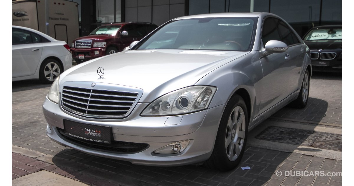 Mercedes benz s 500 for sale grey silver 2007 for Mercedes benz s 500 for sale used