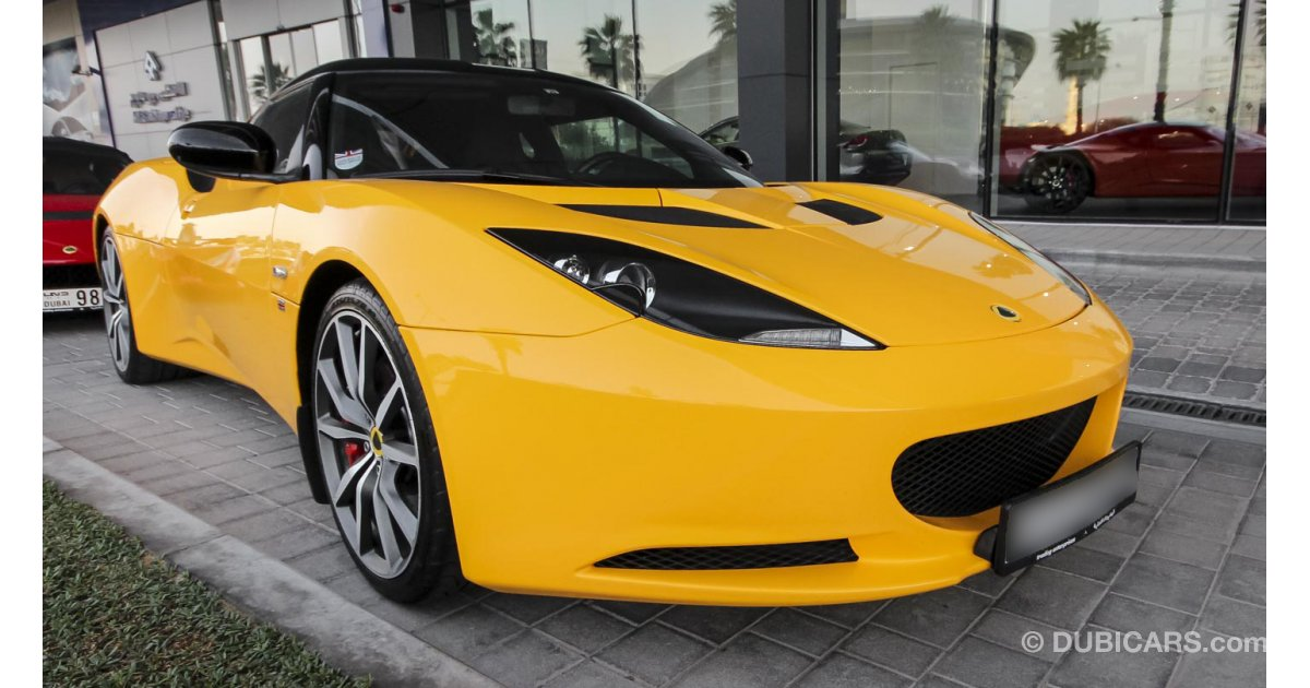 lotus evora s for sale aed 339 000 yellow 2014. Black Bedroom Furniture Sets. Home Design Ideas