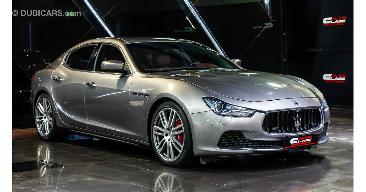 maserati ghibli s for sale aed 175 000 grey silver 2015. Black Bedroom Furniture Sets. Home Design Ideas