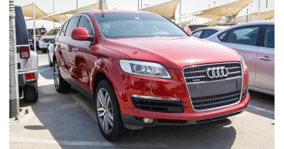 audi q7 3 6 quattro for sale aed 29 000 red 2009. Black Bedroom Furniture Sets. Home Design Ideas