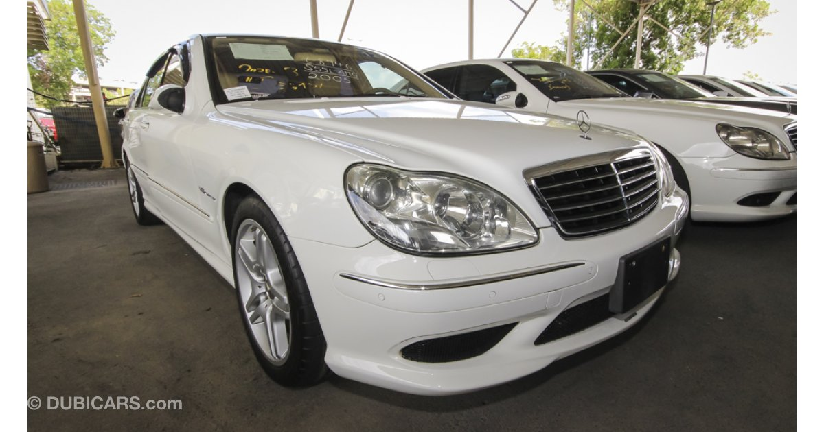 Mercedes benz s 55 amg for sale white 2005 for Mercedes benz 2005 for sale