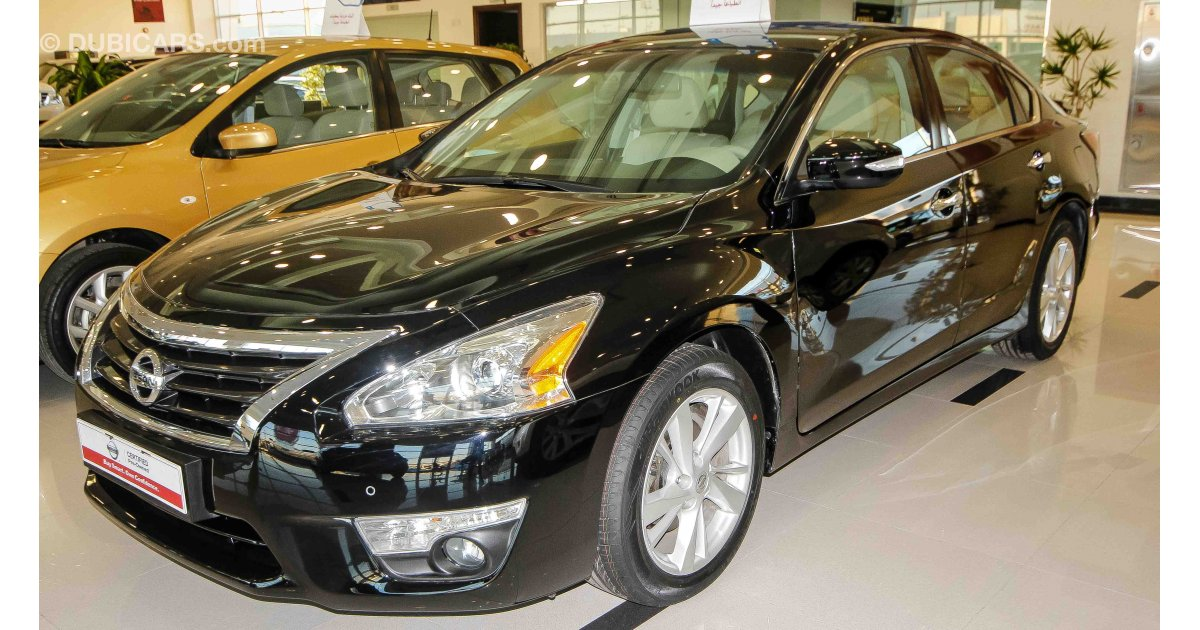 nissan altima 3 5 sl for sale aed 73 900 black 2015. Black Bedroom Furniture Sets. Home Design Ideas