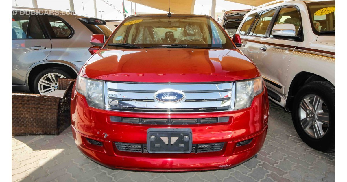 ford edge sport awd for sale aed 27 000 red 2010. Black Bedroom Furniture Sets. Home Design Ideas