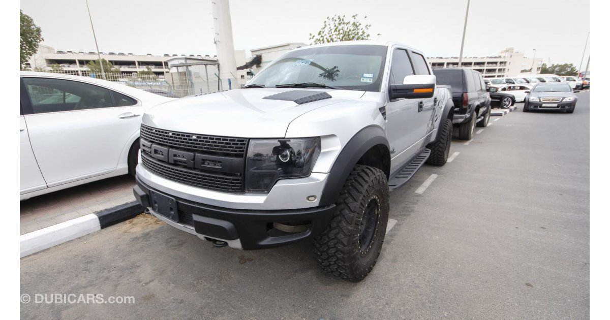 ford raptor svt 6 2l for sale aed 130 000 grey silver 2011. Black Bedroom Furniture Sets. Home Design Ideas
