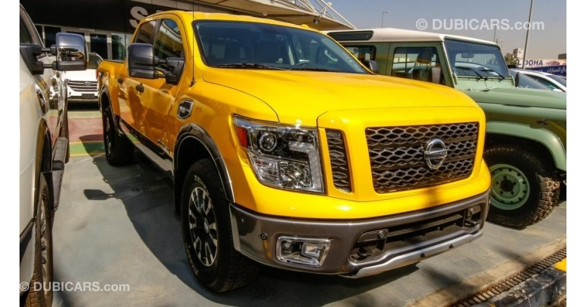 Nissan Titan Pro for sale: AED 229,000. Yellow, 2017