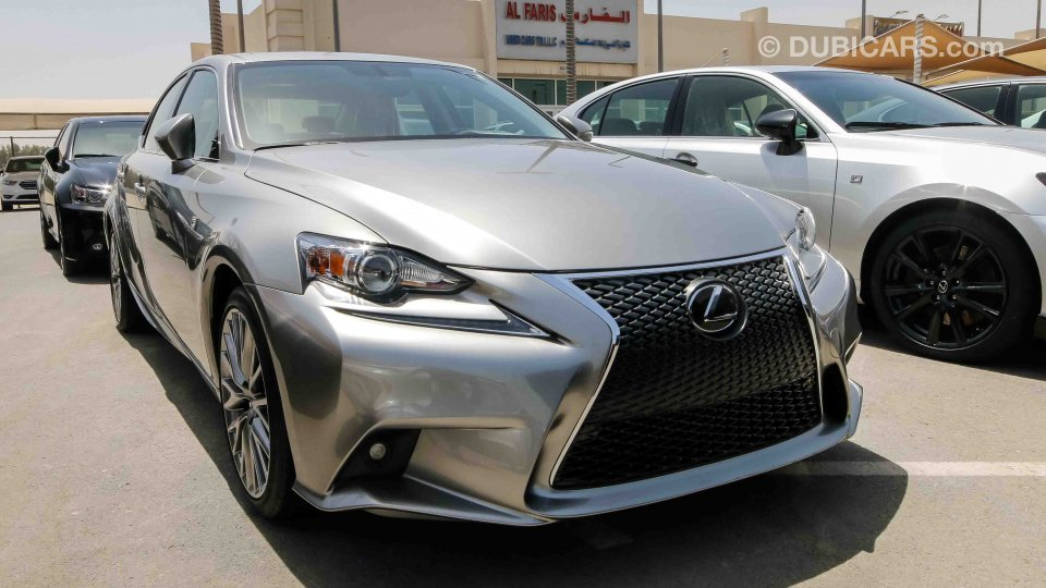 Lexus Is 250 F Sport For Sale Aed 72 000 Grey Silver 2015