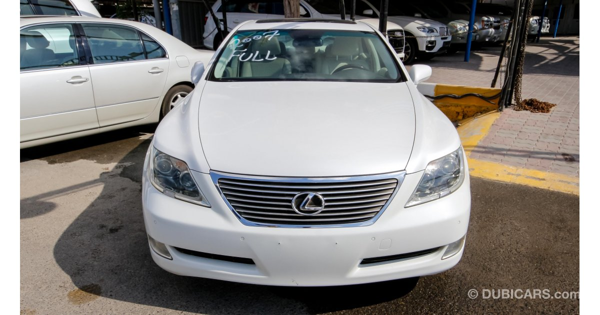 lexus ls 460 for sale aed 76 000 white 2007. Black Bedroom Furniture Sets. Home Design Ideas