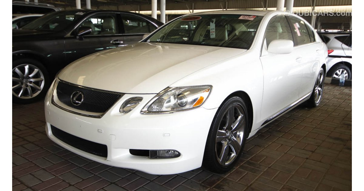 lexus gs 430 for sale aed 40 000 white 2006. Black Bedroom Furniture Sets. Home Design Ideas