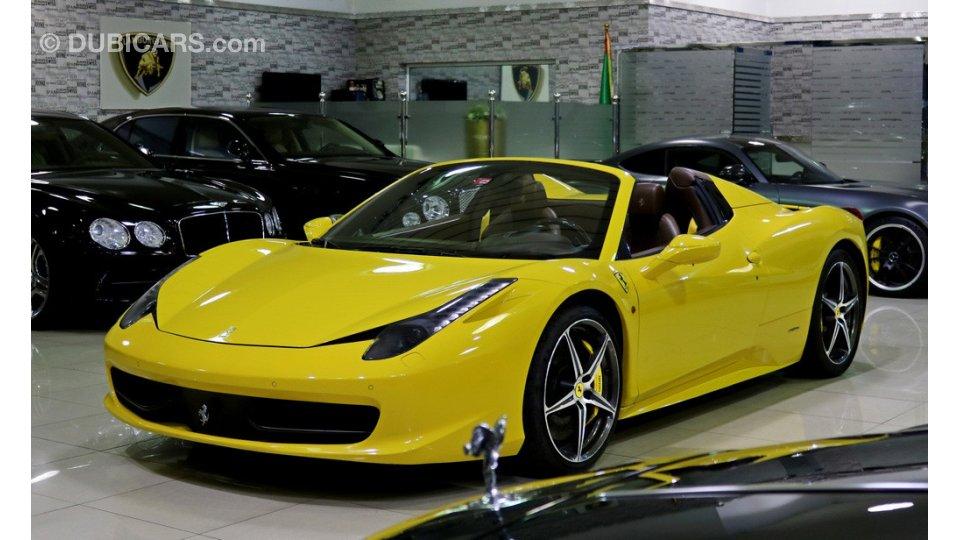 Ferrari 458 Spider for sale: AED 395,000. Yellow, 2013