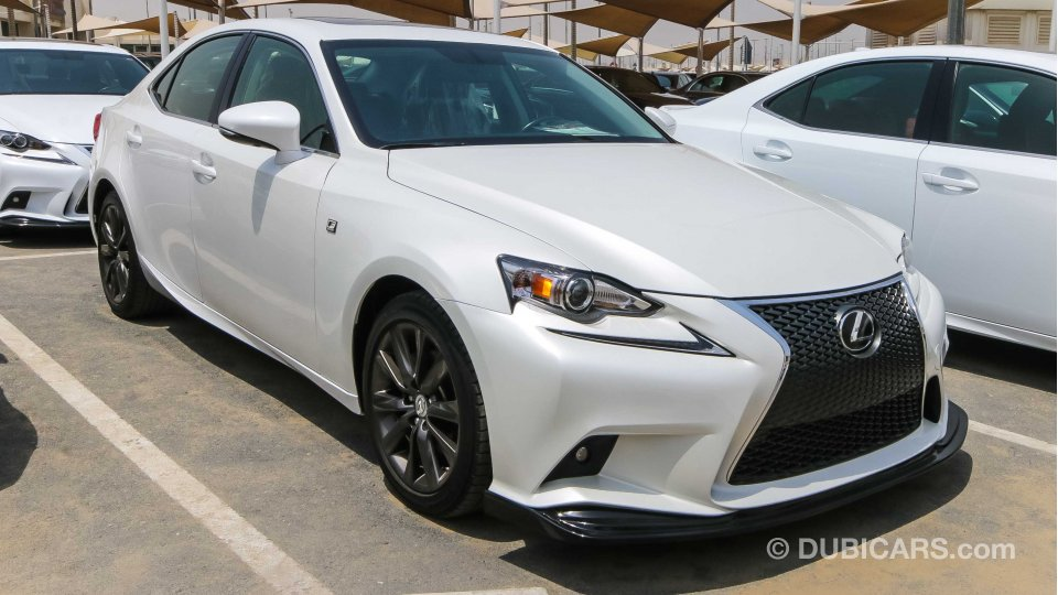 lexus is 250 f sport for sale aed 66 000 white 2014. Black Bedroom Furniture Sets. Home Design Ideas