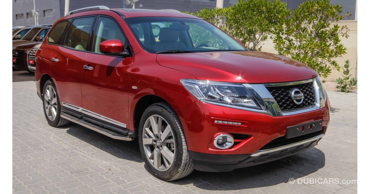 nissan pathfinder 4wd sl for sale aed 135 900 red 2016. Black Bedroom Furniture Sets. Home Design Ideas