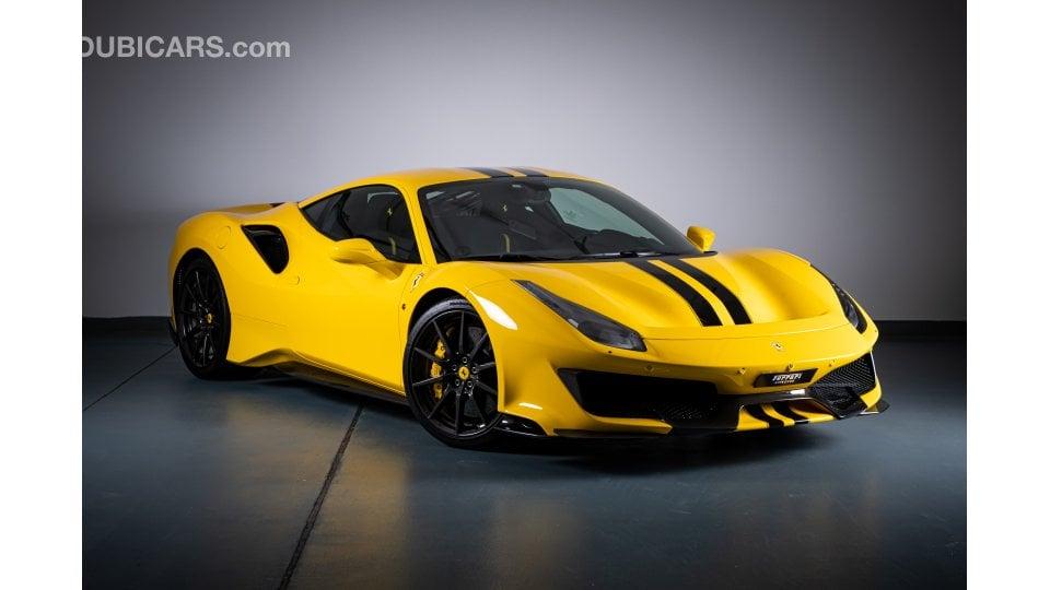 Ferrari 488 Pista for sale: AED 1,475,000. Yellow, 2019