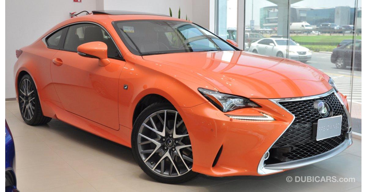 lexus rc 350 coupe p 3 5l at f sport platinum for sale aed 171 900 orange 2015. Black Bedroom Furniture Sets. Home Design Ideas