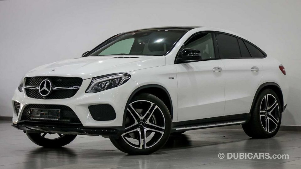 mercedes benz gle 43 amg 4m coupe special offer price for sale aed 302 150 white 2018. Black Bedroom Furniture Sets. Home Design Ideas