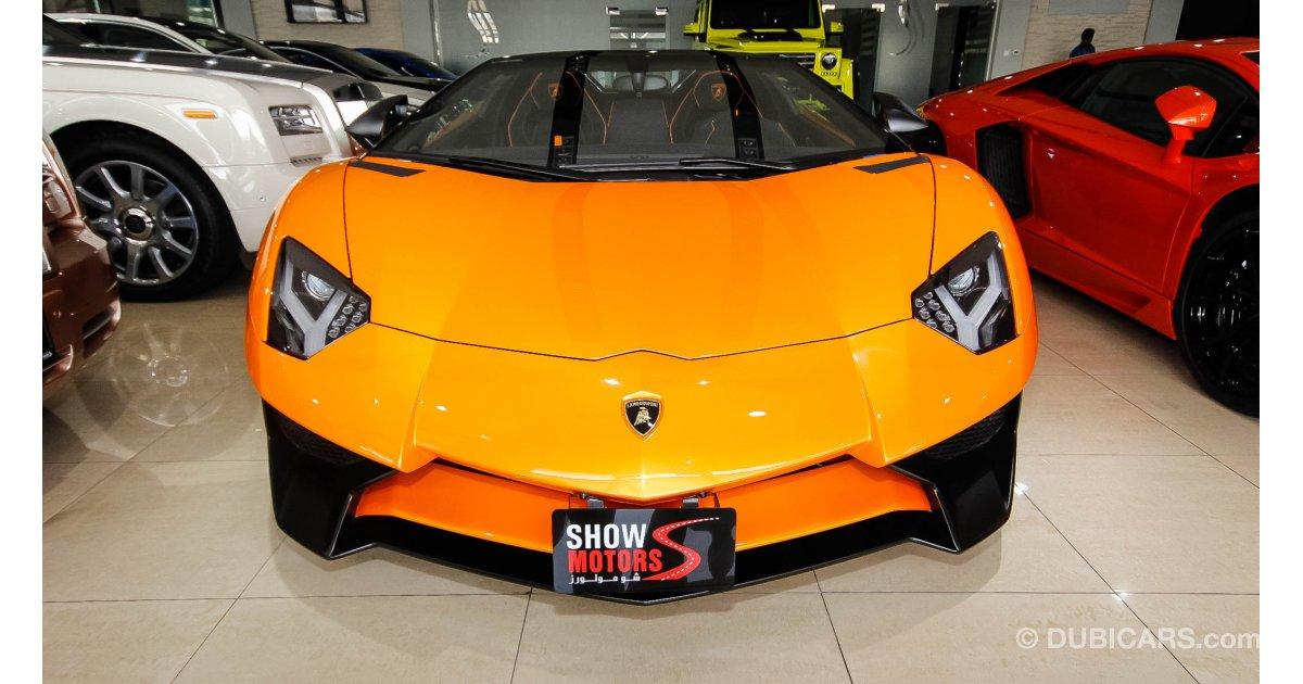 lamborghini aventador sv roadster for sale aed 2 500 000 orange 2016. Black Bedroom Furniture Sets. Home Design Ideas