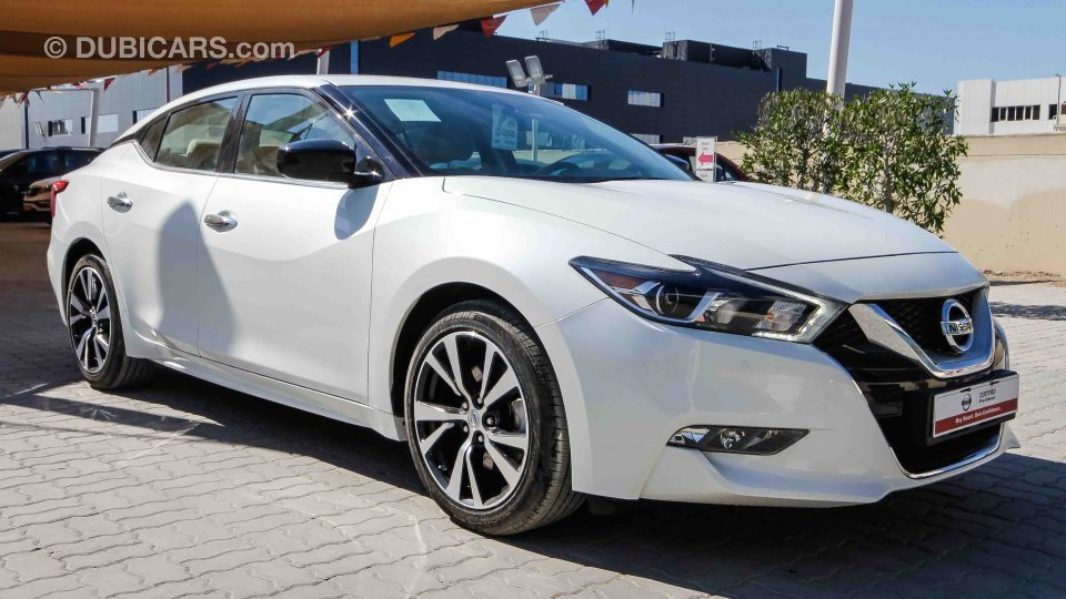 nissan maxima for sale aed 95 900 white 2017. Black Bedroom Furniture Sets. Home Design Ideas